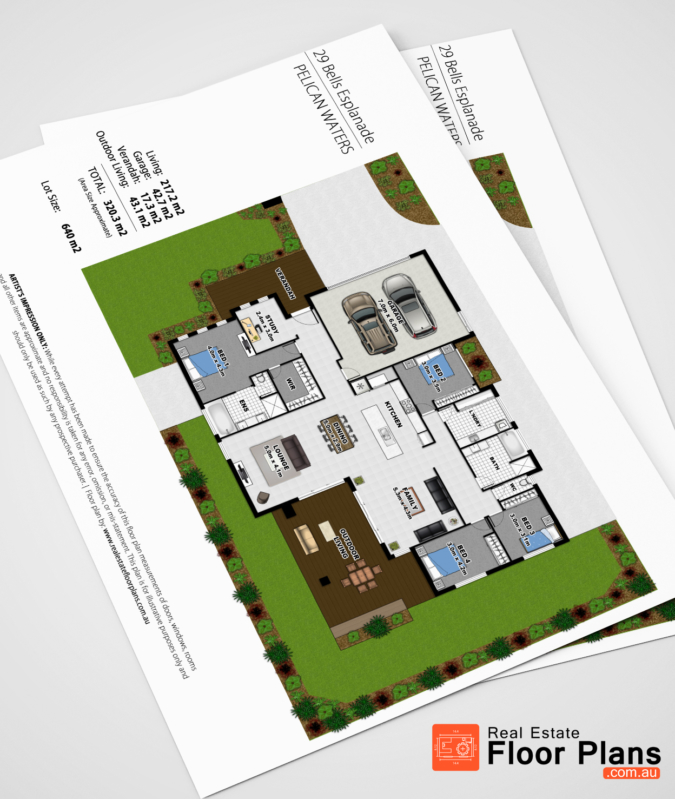 Coloured Floor Plan & Site Plan - Pelican Waters on thorne bay house plan, shenandoah house plan, grouse house plan, renaissance house plan, elm grove house plan,