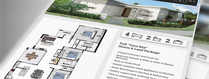 An example of one of our floor plans for builders