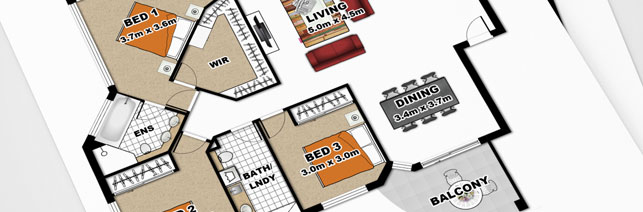 Preview of a real estate floor plan