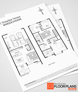 example of black and white floor plan