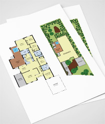 colour floor plan example