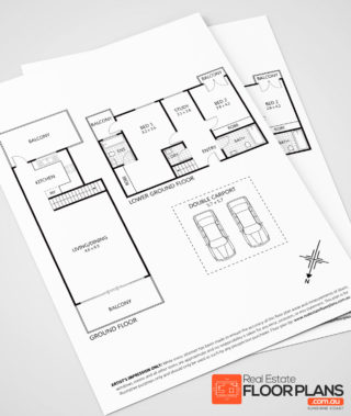Low cost floor plan redraw service for real estate agents for Floor plans for real estate marketing