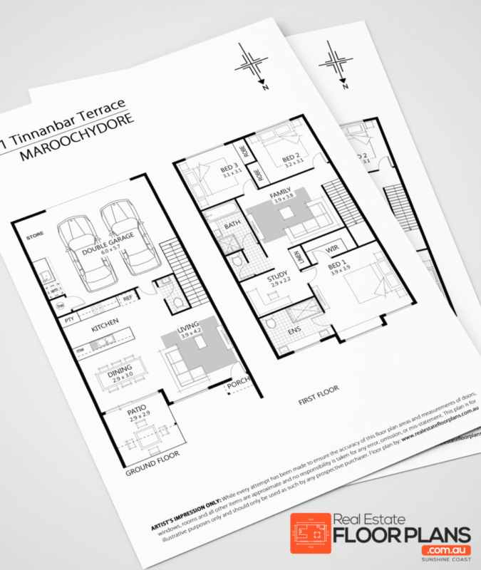 House land marketing real estate floor plans sunshine for Floor plans for real estate marketing