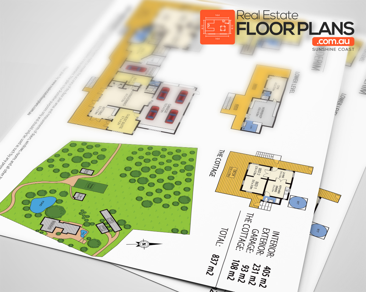 Buderim estate marketing floor plan and site plan real for Floor plans for real estate marketing