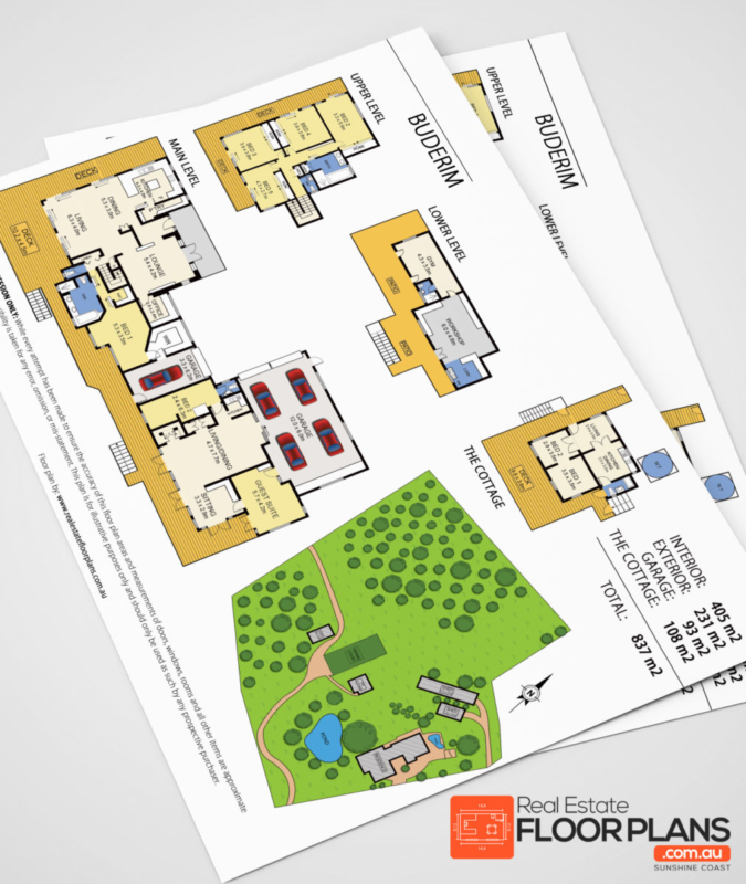 Buderim Estate – Marketing Floor Plan and Site Plan