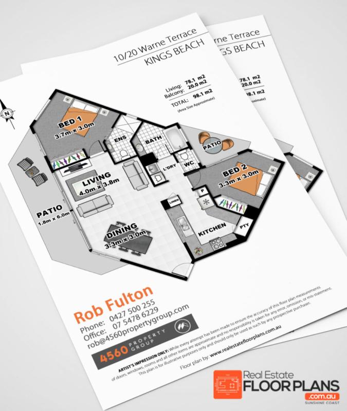 Real Estate Floor Plan for Caloundra Unit