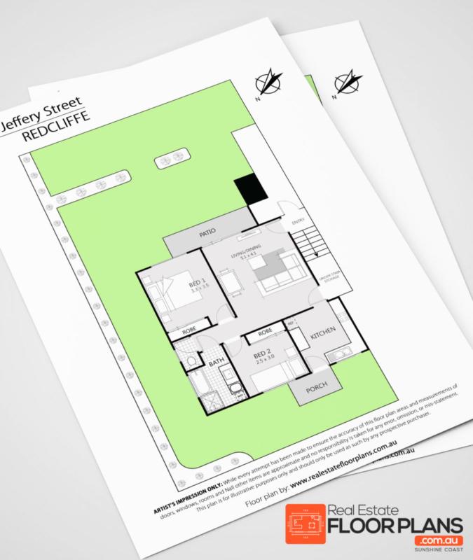 2 Bedroom Unit Floor Plan Redcliffe